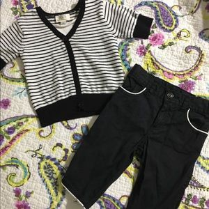 The children's place 2- pc black-and-white stripes